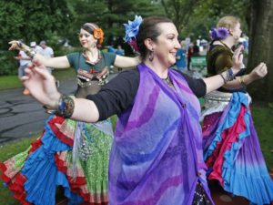 Members of Indy Tribal and Mandali Tribal dance at the 2016 Penrod Art Fair. Photo by Kielly Wilkinson, Indy Star.